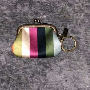 Adorable Coach coin purse with key ring